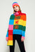Chinti & Parker rainbow you me ski wool cashmere sweater which is splashed with a fun intarsia slogan