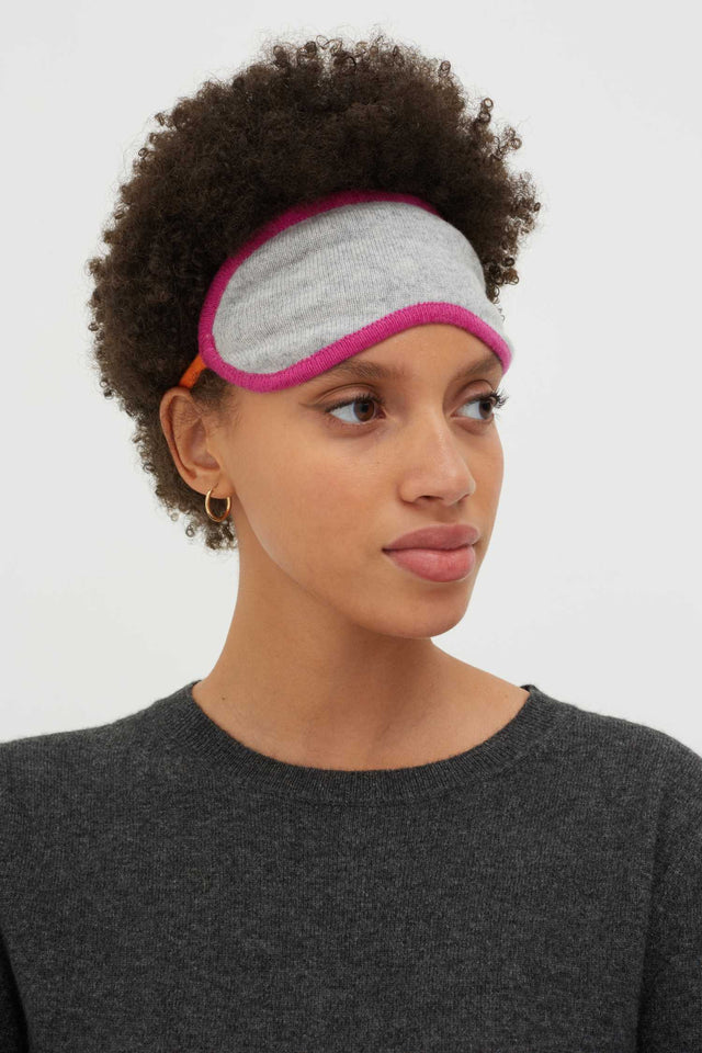 Grey Cashmere Eye Mask image 2