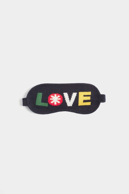 Navy Love Eye Mask