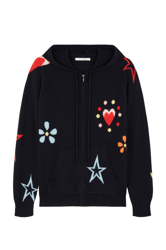Navy All Over Milagro Hoodie image 1