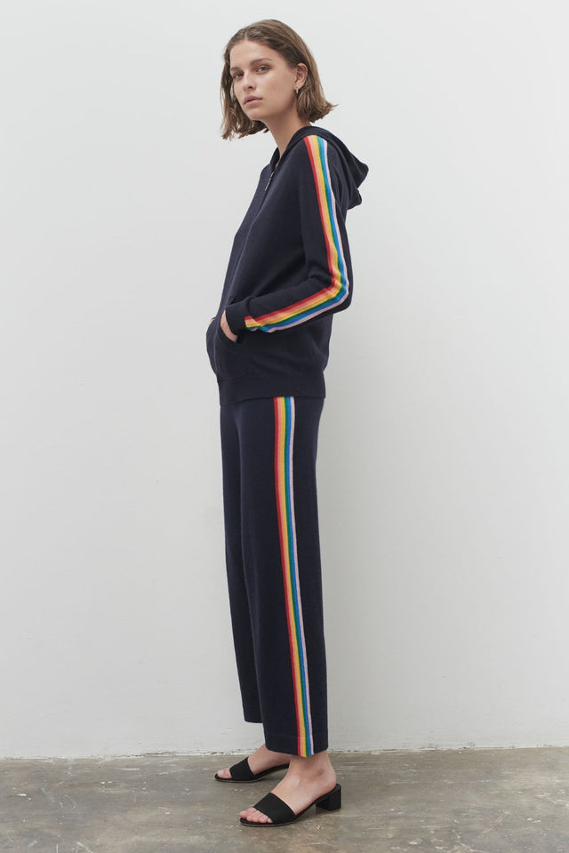 Navy Cashmere Rainbow Track Pants image 3
