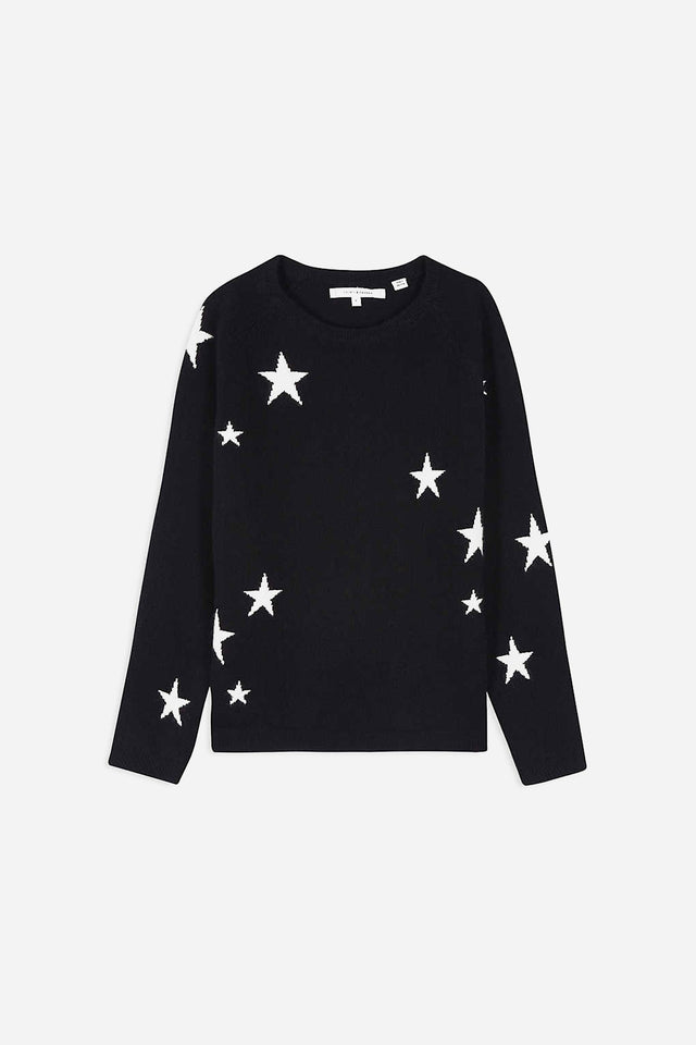 Navy Cashmere Star Sweater 8-12 Years image 1