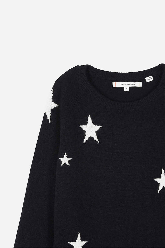 Navy Cashmere Star Sweater 8-12 Years image 3