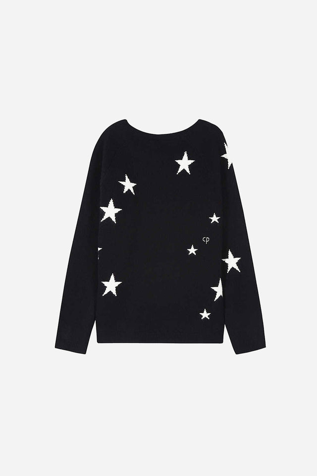 Navy Cashmere Star Sweater 8-12 Years image 2