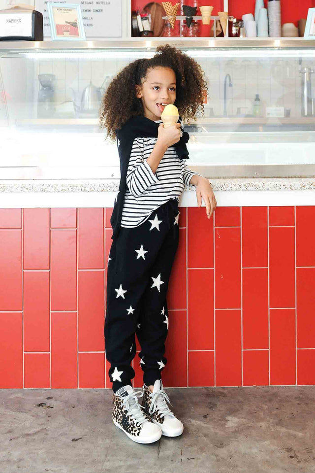 Navy Cashmere Star Track Pants 8-12 Years image 2