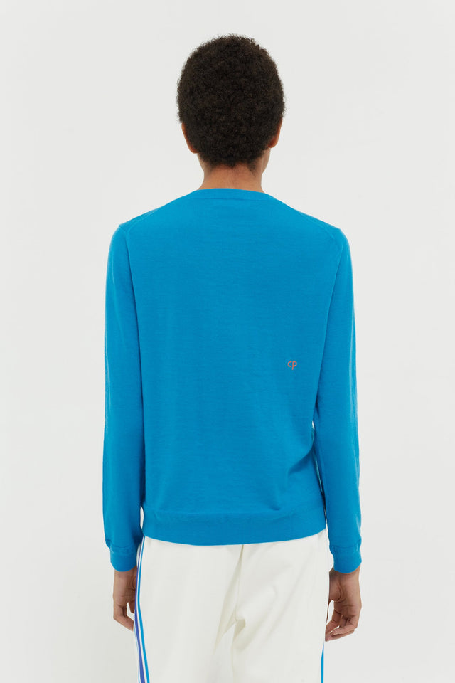 Blue Anchor Badge Cashmere Sweater image 5