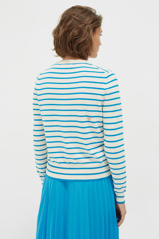 Blue Stripe Lemon Sweater image 5