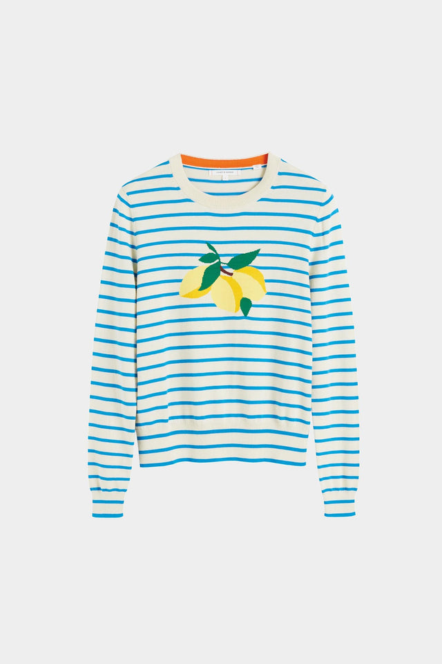 Blue Stripe Lemon Sweater image 2