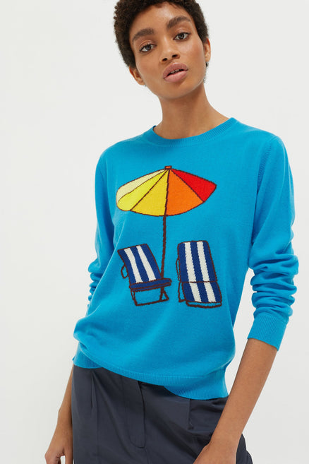 Blue Sunbed Cashmere Sweater