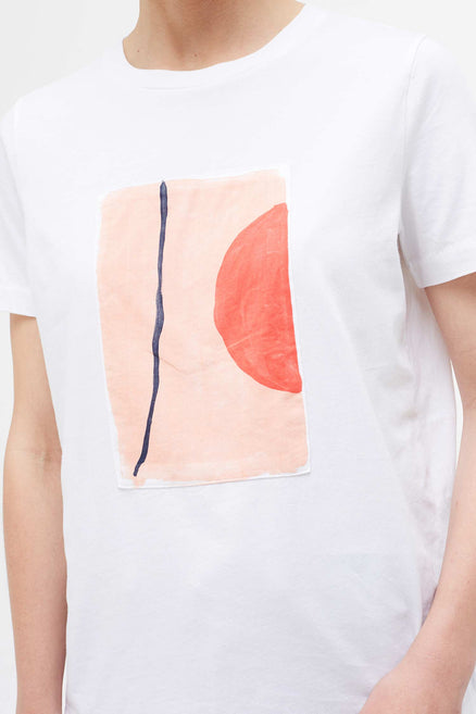 White Abstract V Caroline Popham T-Shirt