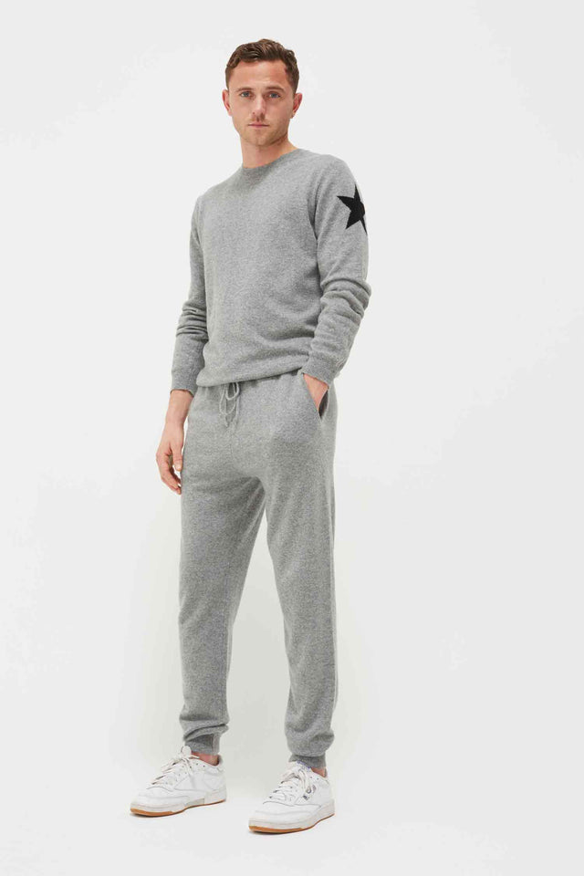 Men's Grey Cashmere Star Sweater image 1