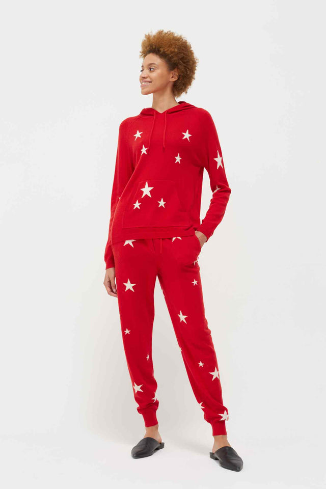 Red Cashmere Star Hoodie image 1