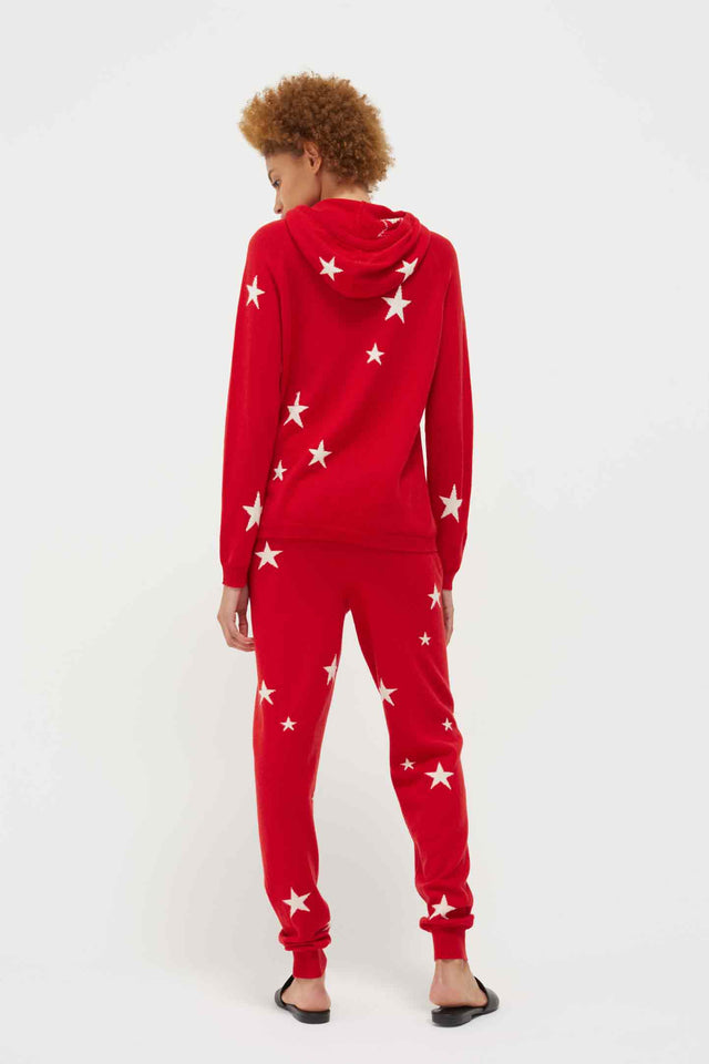 Red Cashmere Star Hoodie image 3
