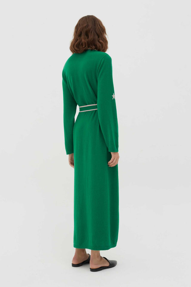 Green Cashmere Star Dressing Gown image 5