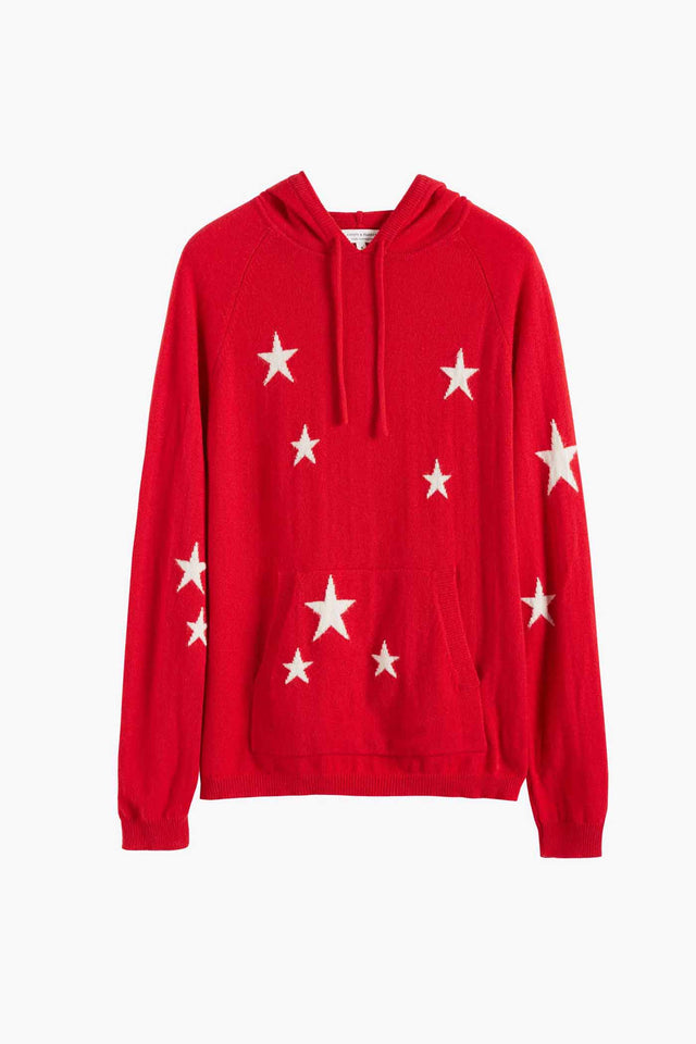 Red Cashmere Star Hoodie image 2