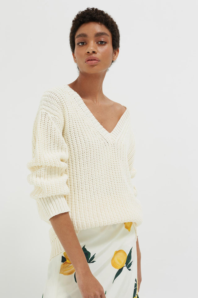 Cream Le Soir V Neck Sweater image 1