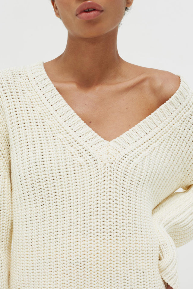 Cream Le Soir V Neck Sweater image 4