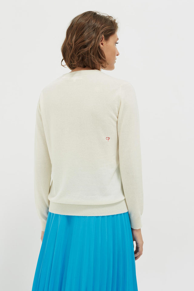Cream Sunbed Cashmere Sweater image 5