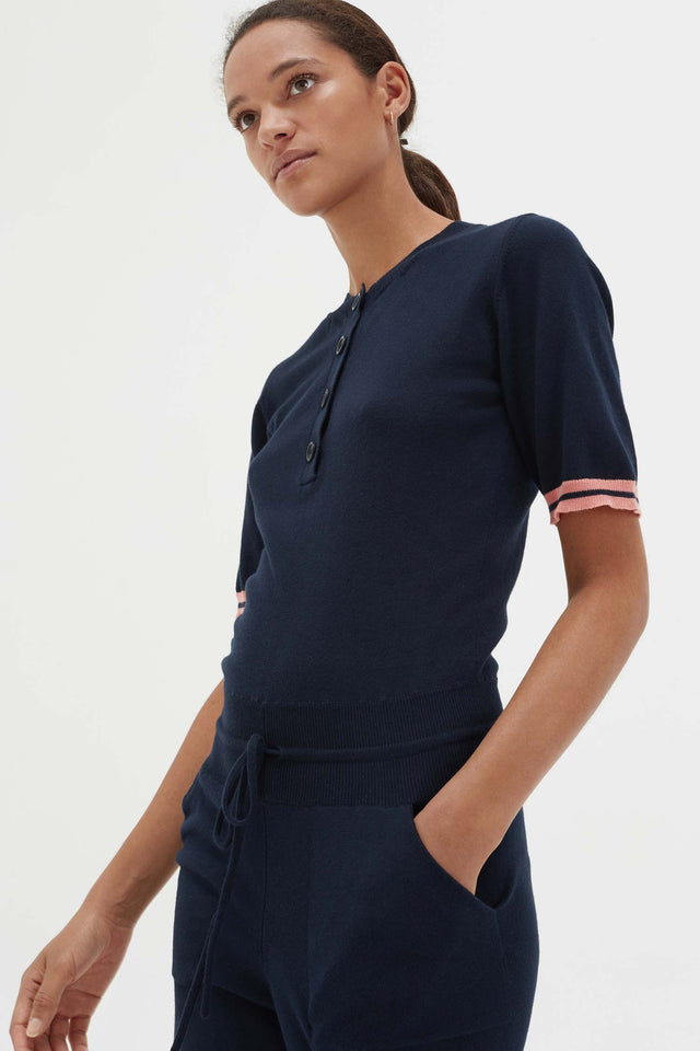 Navy Cotton Day Dreamer Jumpsuit image 6