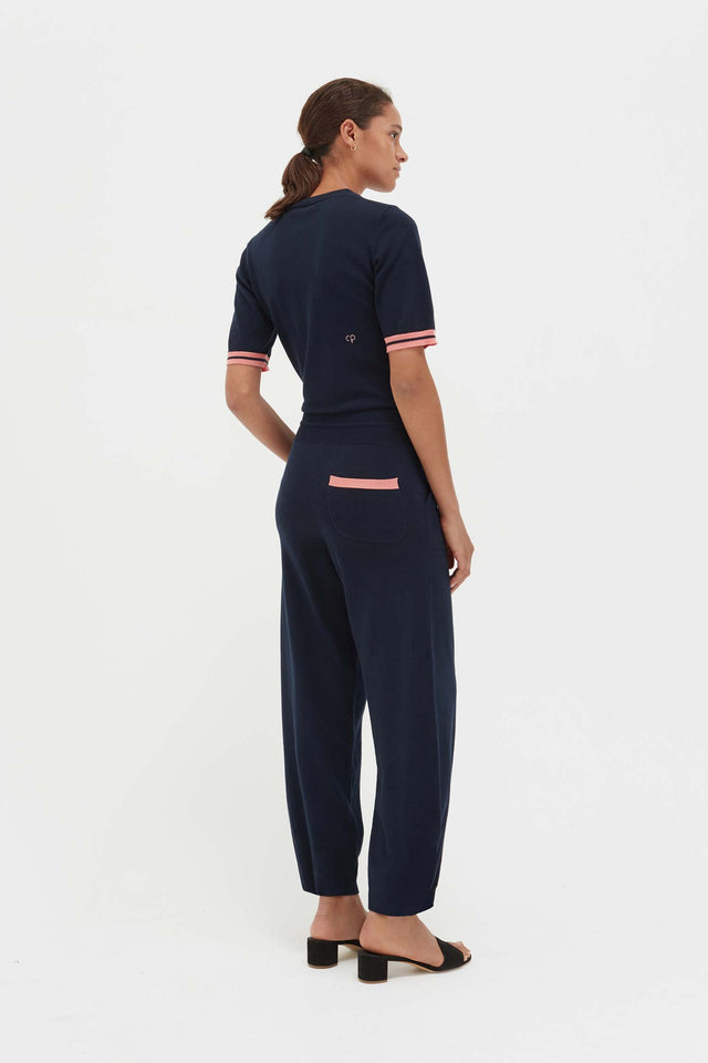 Navy Cotton Day Dreamer Jumpsuit image 4