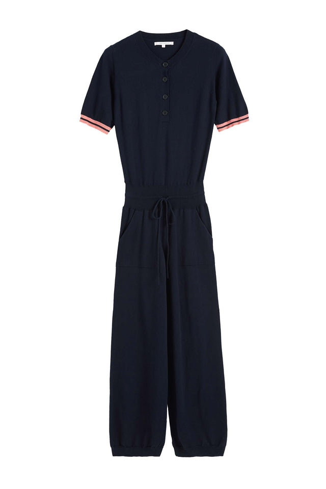 Navy Cotton Day Dreamer Jumpsuit image 2