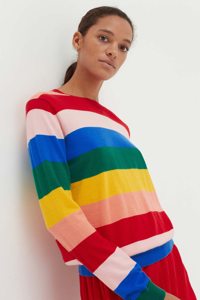Rainbow Cashmere Day Dreamer Sweater image 3