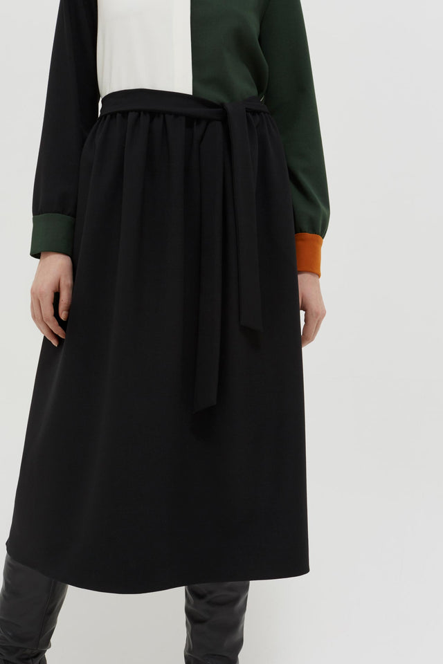 Colour-Block Wool Twill Shirt Dress image 7