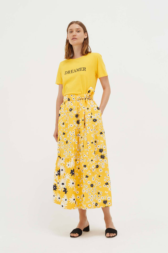 Yellow Cotton Dreamer T-Shirt image 4