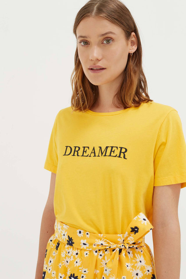 Yellow Cotton Dreamer T-Shirt image 3