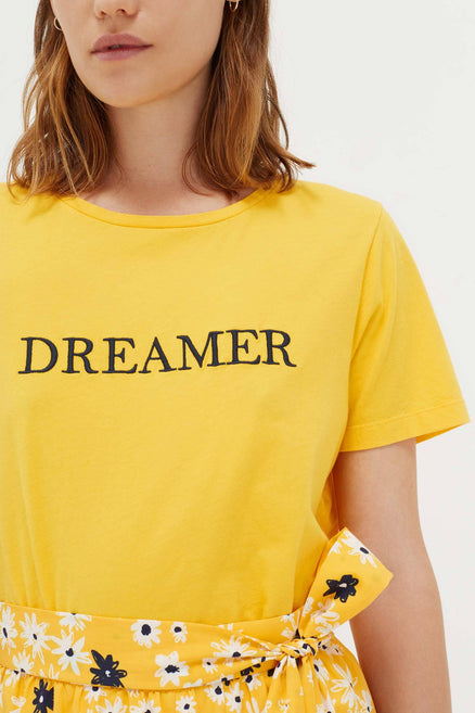 Yellow Cotton Dreamer T-Shirt