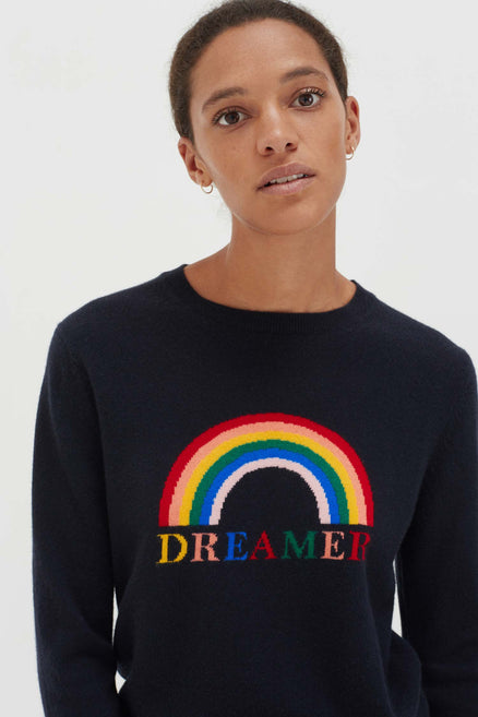 Navy Cashmere Dreamer Sweater