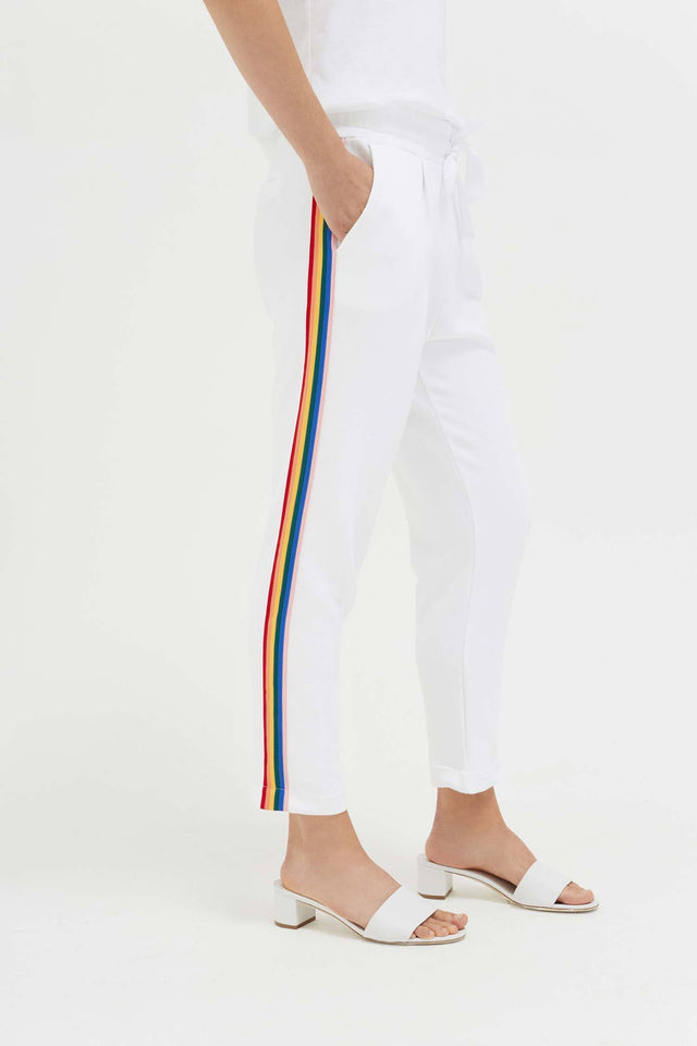 White Cotton Dreamer Track Pants image 1