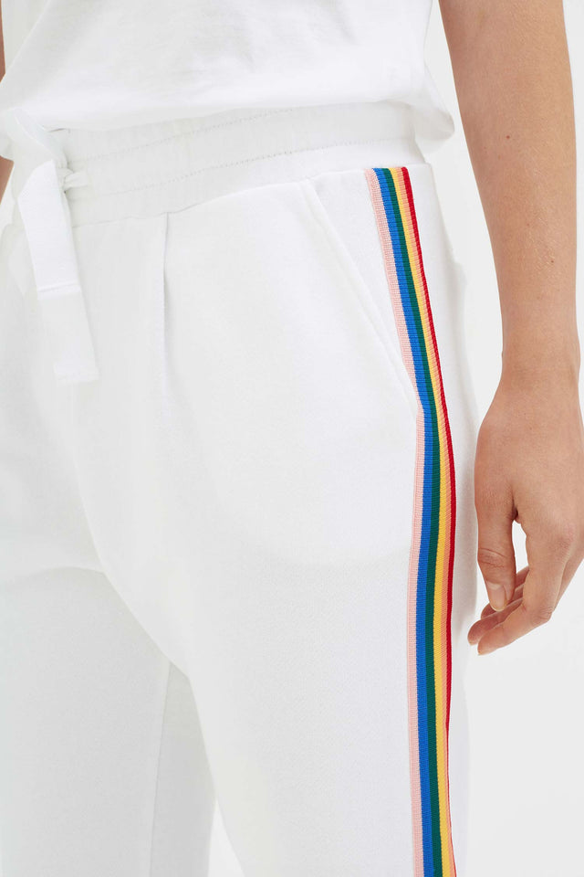 White Cotton Dreamer Track Pants image 4
