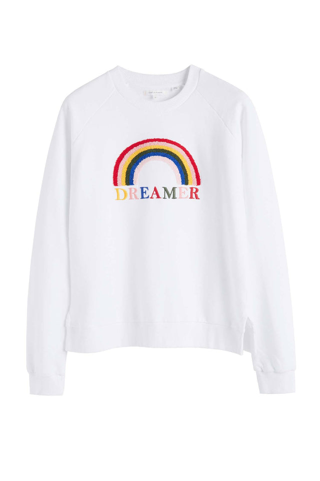 White Cotton Dreamer Sweatshirt image 2