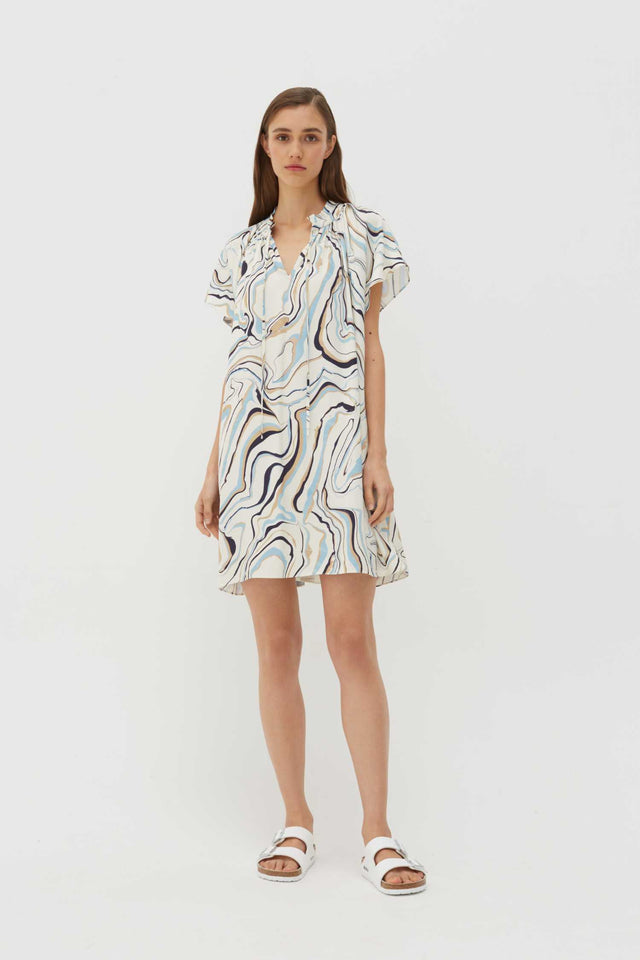 Ivory Marble Twill Mini Dress image 1