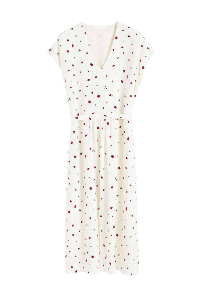 Ivory Silk Strawberry Fields Dress image 2