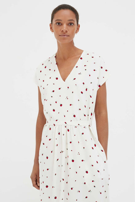 Ivory Strawberry Field Silk Dress