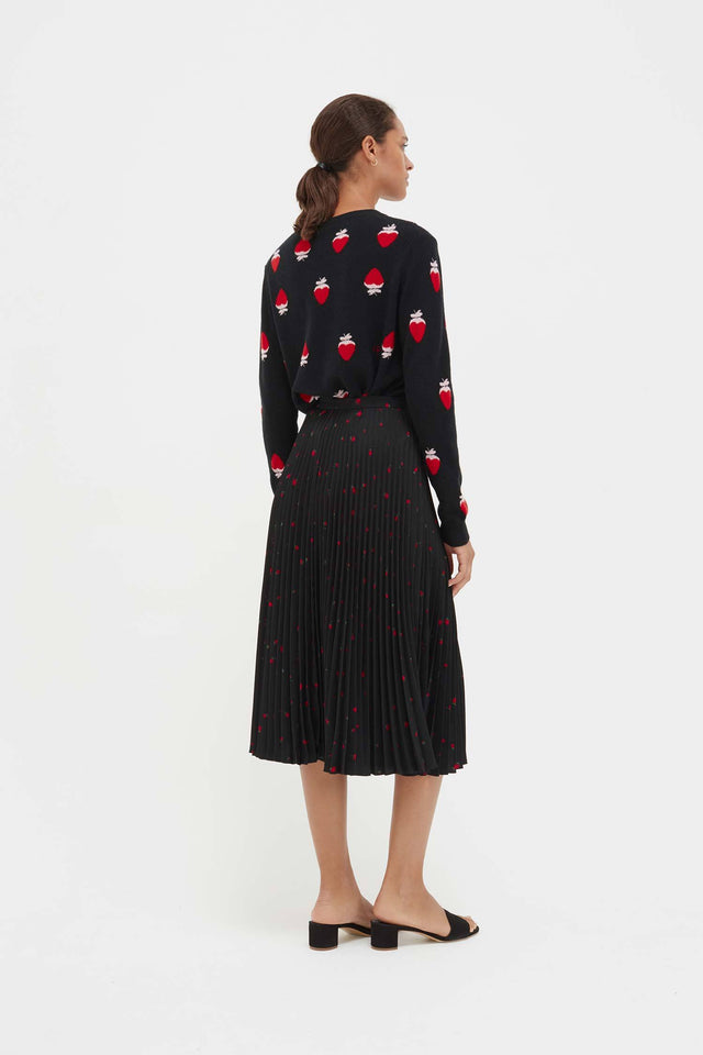 Black Silk Strawberry Fields Skirt image 5