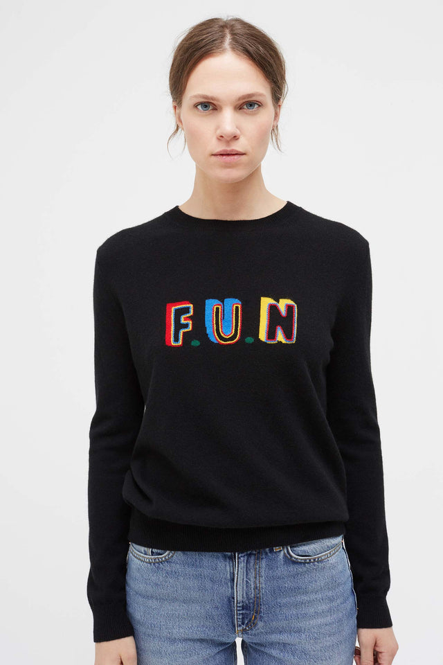 Black Fun Cashmere Sweater image 1