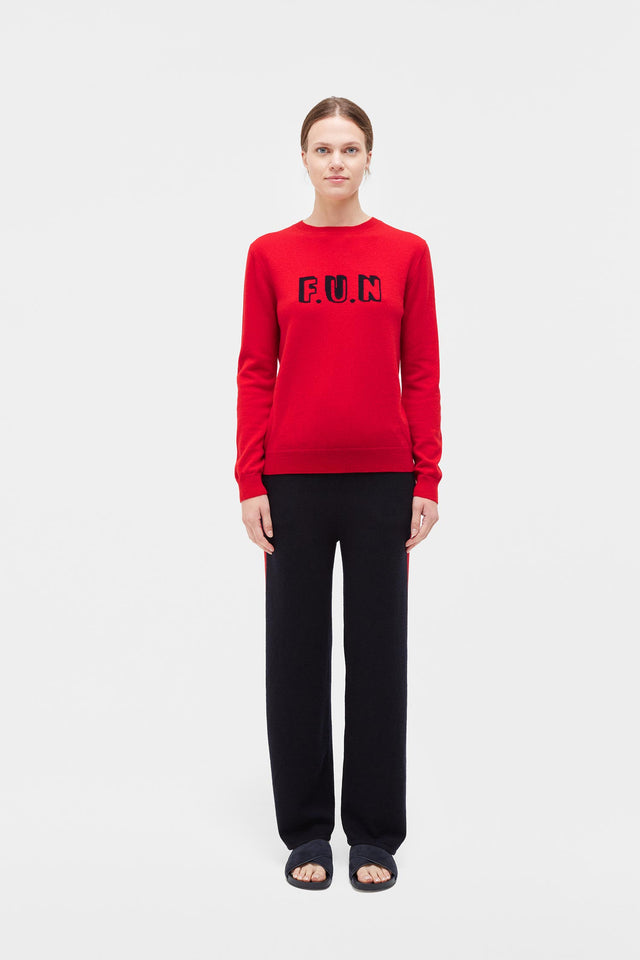 Red Fun Cashmere Sweater image 3