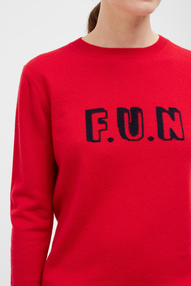 Red Fun Cashmere Sweater image 4