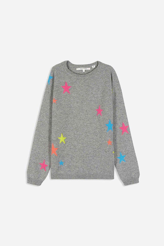 Grey Cashmere Star Sweater 8-12 Years image 1