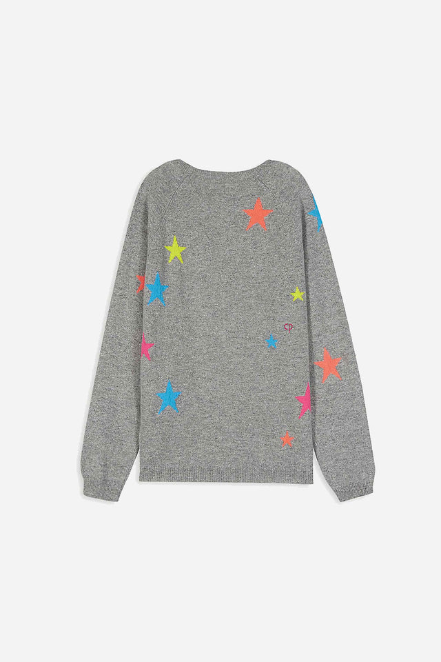 Grey Cashmere Star Sweater 8-12 Years image 4