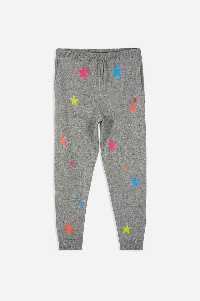 Grey Cashmere Star Track Pants 8-12 Years image 1