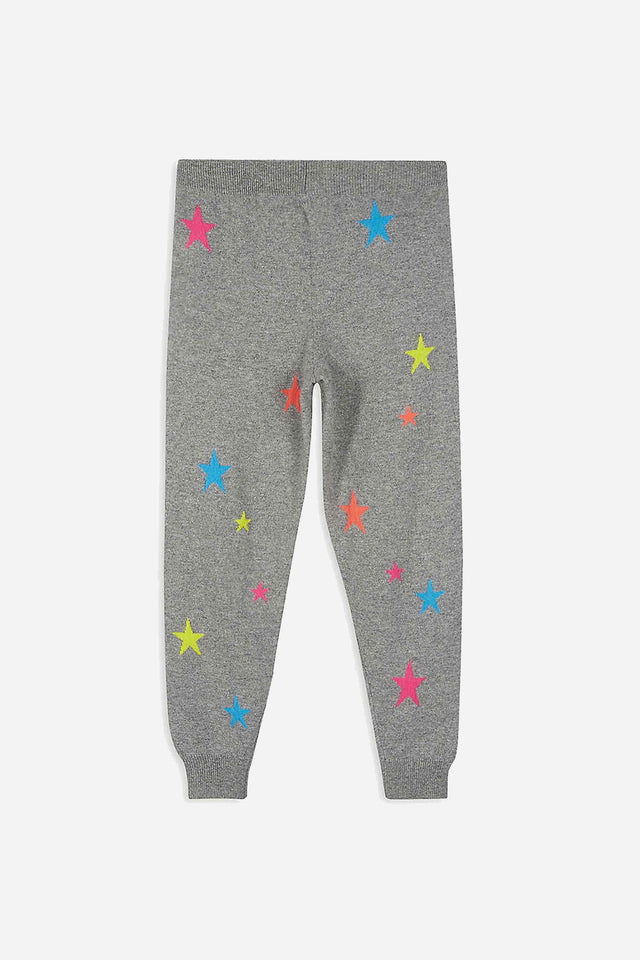 Grey Cashmere Star Track Pants 8-12 Years image 3
