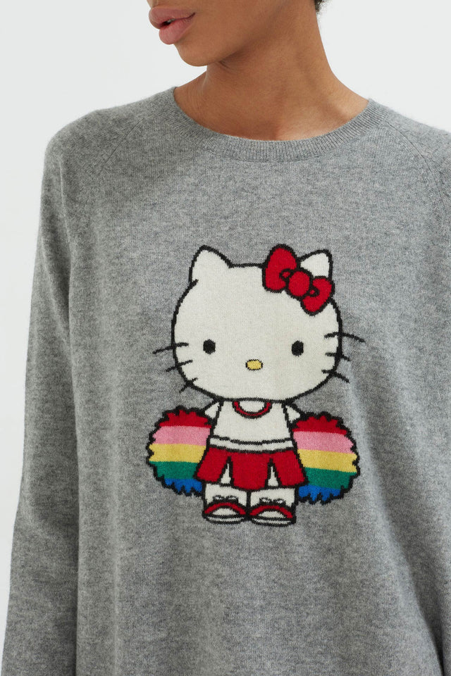 Grey Hello Kitty Cheerleader Sweater image 4
