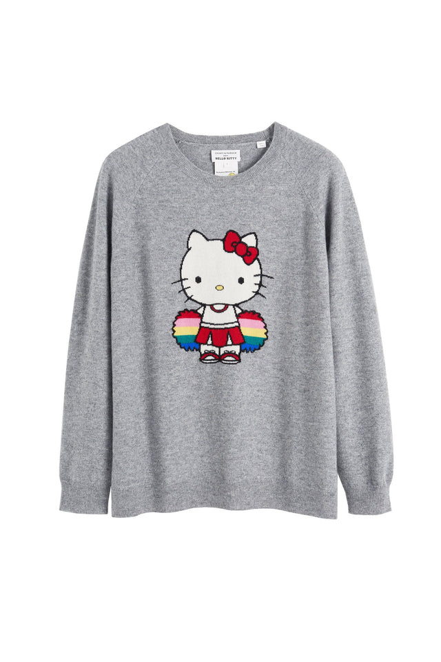 Grey Hello Kitty Cheerleader Sweater image 2
