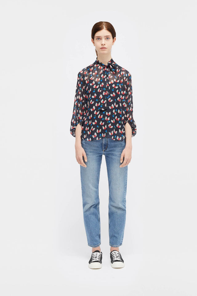 Navy Juliet Blouse image 3