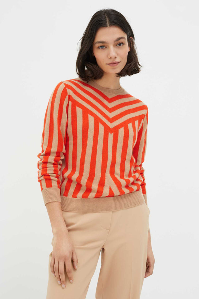 Biscotti Striped Cashmere Sweater image 1