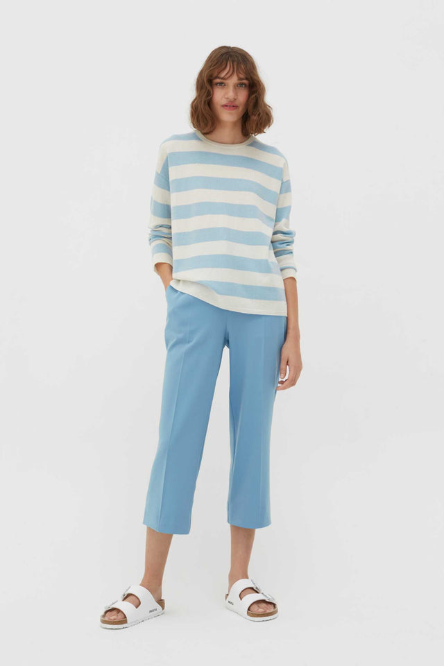 Blue Pop Striped Wool-Cashmere Sweater image 2